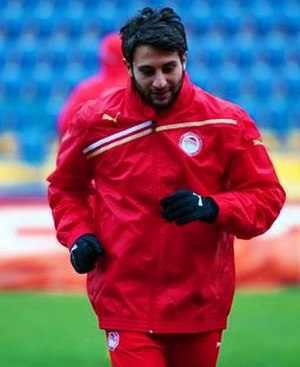 Djamel Abdoun - Abdoun playing for Olympiacos