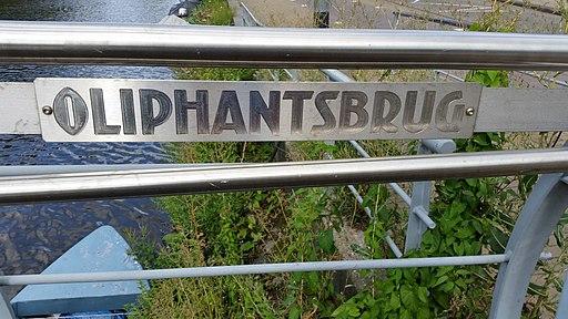Oliphantsbrug, naamplaat