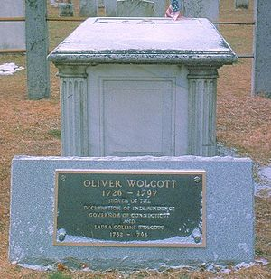 Oliver Wolcott - The Grave of Oliver Wolcott Sr.