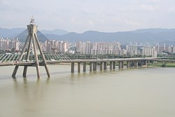 Olympic Bridge on Hangang river Seoul Korea.jpg