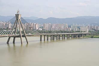 Olympic Bridge - Image: Olympic Bridge on Hangang river Seoul Korea