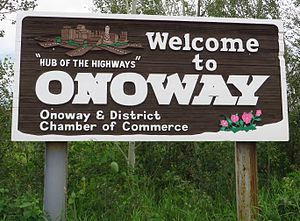 Onoway - Welcome sign