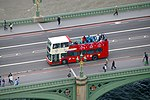 Open-top Bus on Westminster Bridge,
