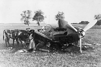 Battle of Brody (1941) - A destroyed Soviet MiG-3 fighter plane during the first days of Operation Barbarossa