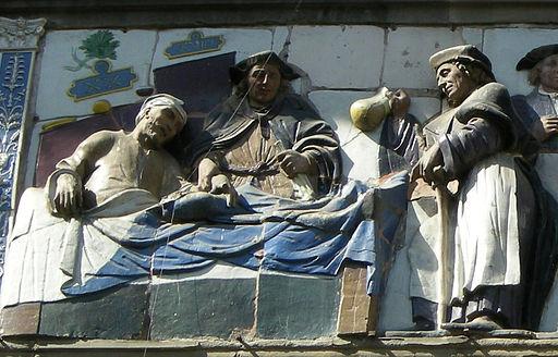 Opere di misericordia 03, santi buglioni, Visitare gli infermi, dett 01