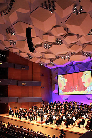 Minnesota Orchestra - Interior shot of Orchestra Hall during a Young People's performance.