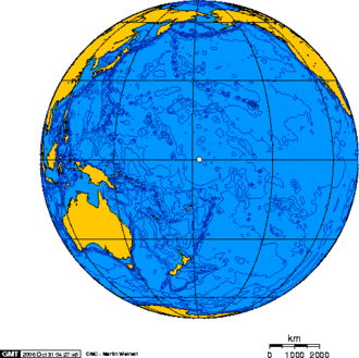 Baker Island - Orthographic projection over Baker Island.
