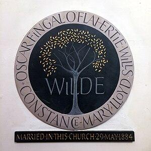 St James's Church, Paddington - Image: Oscar Wilde Constance Lloyd plaque