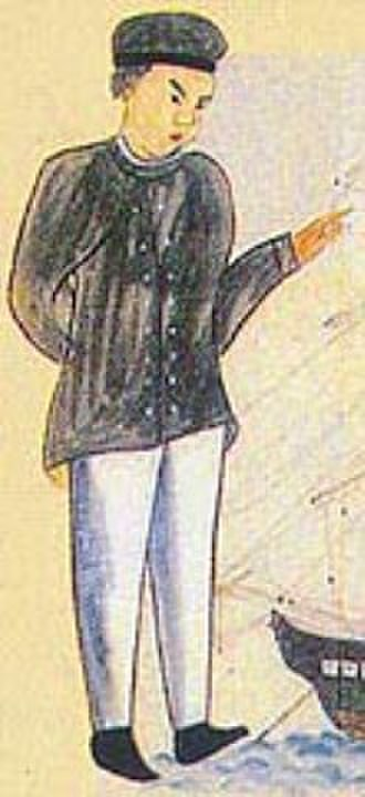 Otokichi - Japanese drawing of Otokichi in 1849, as he visited Japan passing for a Chinese man.