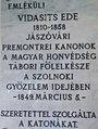 Our Lady of Hungary Church, plaque of Ede Vidasitsm 2017 Szolnok.jpg