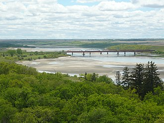 South Saskatchewan River - Highway 15 bridge near Outlook, Saskatchewan