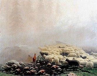 Stanisław Witkiewicz - Image: Owce we mgle