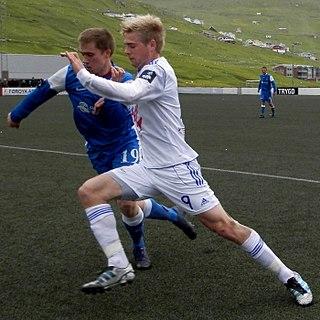 Páll Klettskarð Faroese footballer