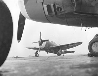 Vermont Garrison - P-47 Thunderbolt in 1943 livery.