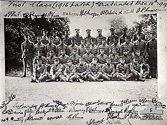Royal Military College, Duntroon - First Class of cadets at Royal Military College Duntroon 1916–1919