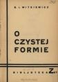 PL Stanisław Ignacy Witkiewicz - O Czystej Fromie.pdf
