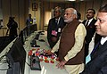 PM Modi at the dedication of Unit-II of ONGC Tripura Company Ltd Power Plant.jpg