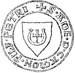 Jastrzębiec coat of arms - Seal with the coat of arms of Jastrzębiec, 14th century