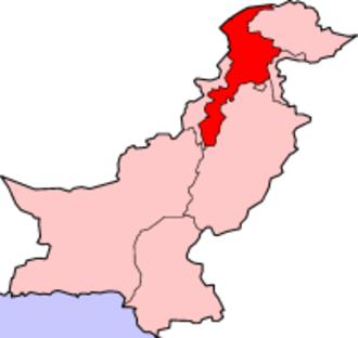 2008 Peshawar bombings - Khyber Pakhtunkhwa Province shown within Pakistan