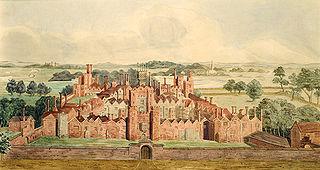 former royal palace in Surrey, UK