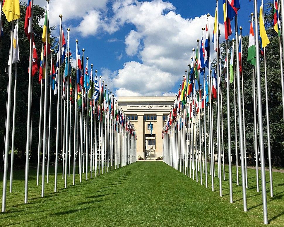 Palais des Nations unies, à Genève