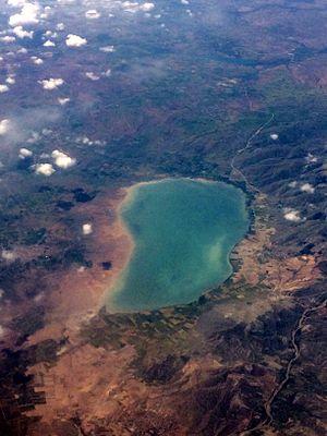 Lake Palas Tuzla - Aerial view of Lake Palas Tuzla.