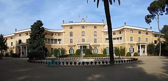 Palau Reial de Pedralbes in Barcelona, headquarters of the Union for the Mediterranean. Palau Reial Pedralbes (Barcelona).JPG