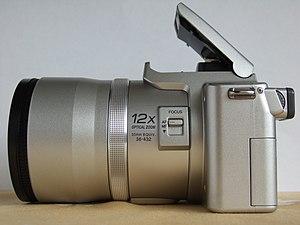 Panasonic Lumix DMC-FZ20 - Image: Panasonic Lumix DMC FZ20 w Lens Hood Adapter 72mm UV Filter