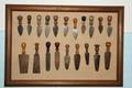 Pannello coltelli da parmigiano (serie di 19) - Musei del cibo - Parmigiano - 187-206.tif