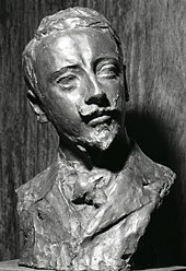 Busto di Paolo Troubetzkoy, 1892. Vittoriale degli italiani, Gardone Riviera. Foto di Paolo Monti, 1969.
