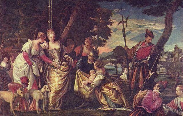 Паоло Веронезе. Нахождение Моисея. 2-я треть XVIв. Картинная галерея. Дрезден