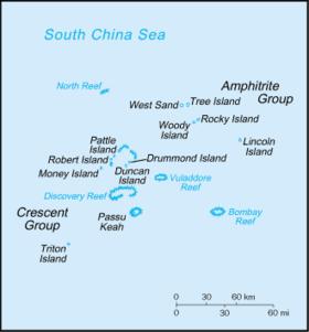 Парасельские острова: о. Патл, о. Трайтон, о-ва Кресент, о. Линкольн