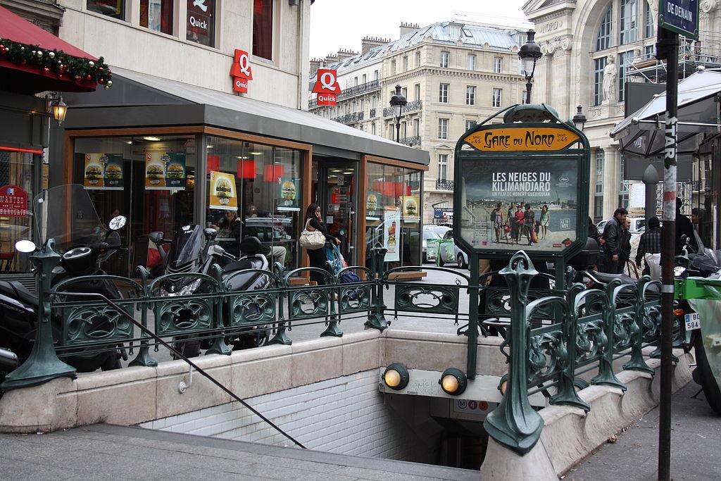file paris station metro gare du nord 4 jpg wikimedia commons. Black Bedroom Furniture Sets. Home Design Ideas