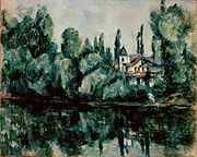 Paul Cézanne - Les rives de la Marne (1888).jpg