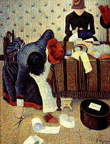 Deux stylistes, Rue du Caire Tableau de Paul Signac (v. 1885-86).