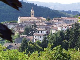 Alta Val Tidone - View of Pecorara, one of the town in the comune.