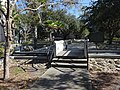 Pedestrian bridge over water feature in front of Gainesville City Hall.JPG