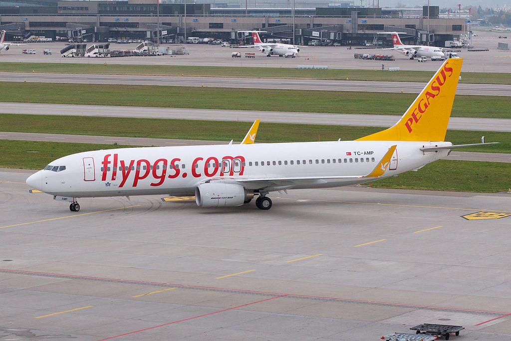 Pegasus Airlines Boeing 737-800 TC-AMP Zurich International Airport