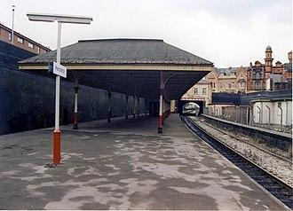 Pendleton railway station - Pendleton railway station in 1989