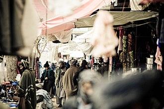 Faryab Province - A market street in Maymana