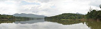 Periyar (river) - Panoramic view of Periyar River from Bhoothathankettu Dam