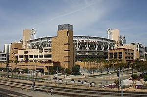 Petco Park - Petco Park from the outside.