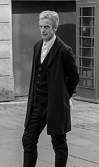 Peter Capaldi as Doctor Who filming in Cardiff June 2014 (cropped).jpg