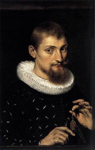 Рубенс. Портрет мужчины 26 лет. 1597. Масло на меди, 22×15см. Метрополитен-музей