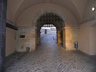 Portcullis - Double portcullis gates at Petersberg Citadel, Erfurt