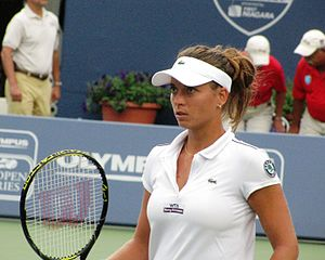 English: Petra at the New Haven Open 27 August...