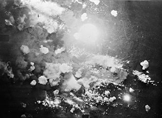 The attack as seen from a British bomber Pforzheim, Royal Air Force Bomber Command, 1942-1945 C5083.jpg