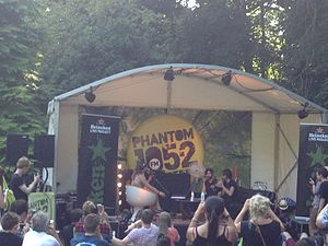 TXFM - Phantom 105.2's Claire Beck and Dee Reddy interviewing Foals at the 2013 Longitude Festival in Dublin.