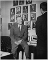 Photograph of Representative Gerald R. Ford Talking to an Unidentified Visitor in his House Office - NARA - 186882.tif