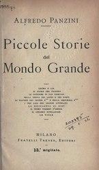 Alfredo Panzini: Piccole storie del mondo grande